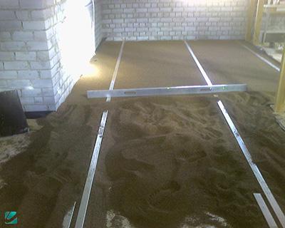 Сухая стяжка пола песком